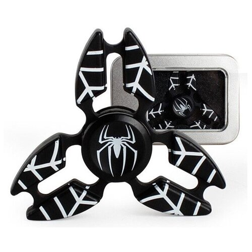 Спиннер Металлический Человек-Паук чёрный V2