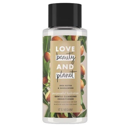 Купить Love Beauty and Planet кондиционер-очищающий для волос Shea Butter & Sandalwood Счастье и Увлажнение, 400 мл