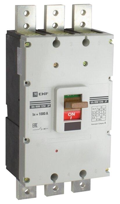 Автоматический выключатель EKF ВА-99М/1250 3P (термомагнитный) 35kA
