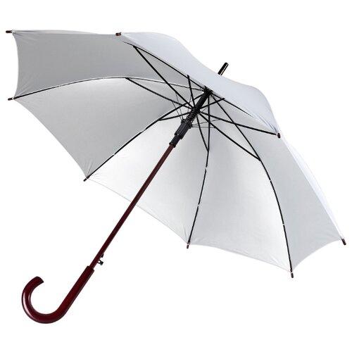 Зонт-трость полуавтомат Unit Standard (393) серебристый