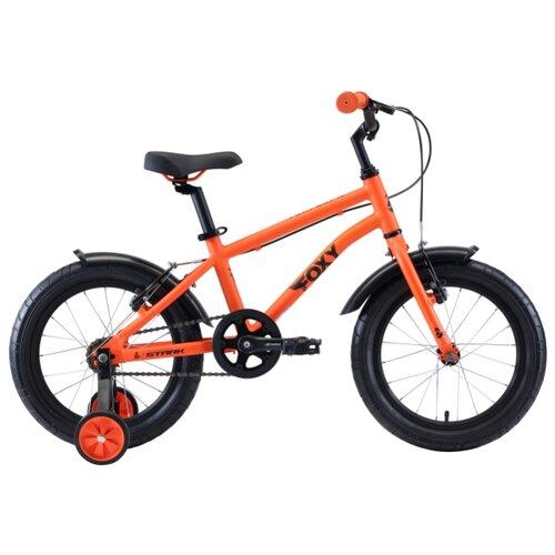 Детский велосипед STARK Foxy 16 Boy (2020) оранжевый/голубой/черный (требует финальной сборки)