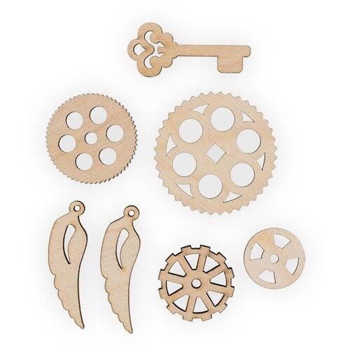 Купить Mr. Carving Набор заготовок для декорирования Шестеренки 3 ВД-523 бежевый, Декоративные элементы и материалы