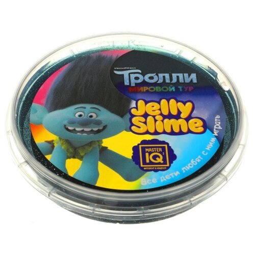 Лизун Master IQ² Jelly Slime Тролли. Мировый тур черный