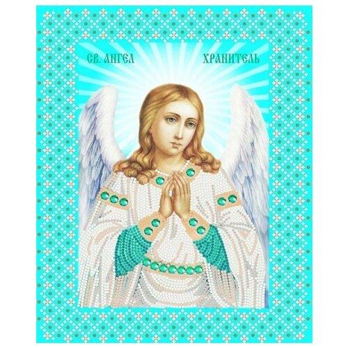 Купить Ангел Хранитель (рис. на сатене 20х25) (строчный шов) 20х25 Конек 7108, Конёк, Канва