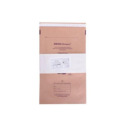 Пакет для стерилизации для стерилизованных инструментов DGM Крафт-пакеты для стерилизации 150x250, 100 шт. бежевый