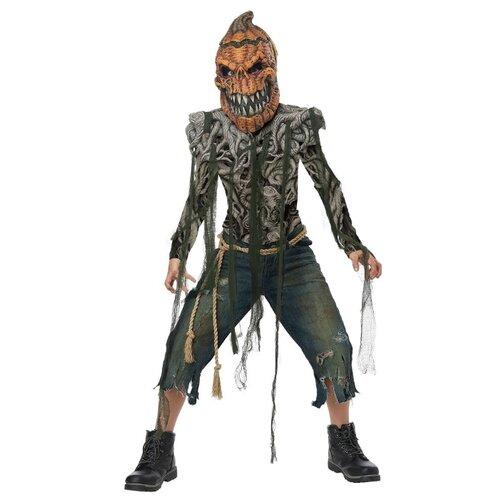 Купить Костюм California Costumes Тыква-зомби 00632, оранжевый/серый, размер XL (12-14 лет), Карнавальные костюмы