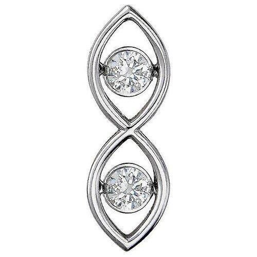Эстет Подвеска с фианитами из серебра 01П158305 эстет подвеска с 12 фианитами из серебра н12д155136