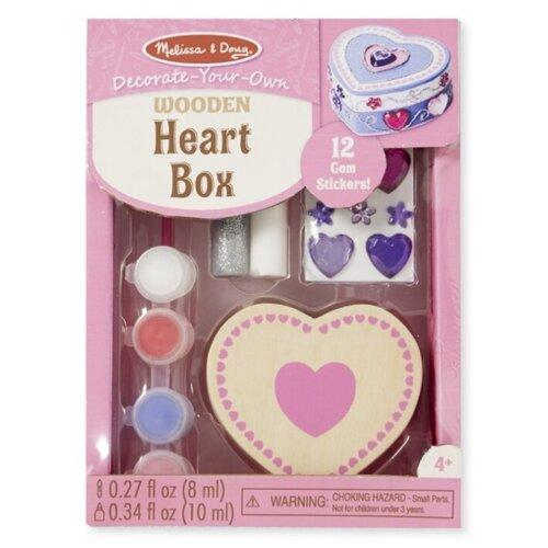 Купить Melissa & Doug Набор для детского творчества Создай свою шкатулку Сердце (8850), Поделки и аппликации