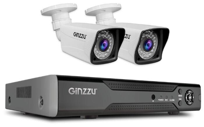 Комплект видеонаблюдения Ginzzu HK-425D 2 камеры