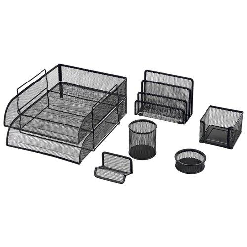 Купить Канцелярский набор BRAUBERG Germanium, 7 пр., черный, Офисные наборы