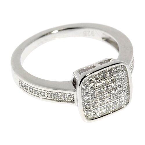 ELEMENT47 Кольцо из серебра 925 пробы с кубическим цирконием SL63029A1_001_WG, размер 16.5