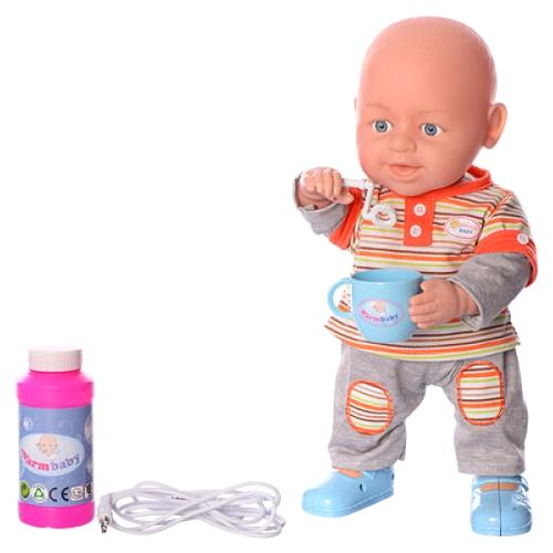 Фото - Интерактивный пупс Warm baby Bubble Baby 37 см, WZJ012-1 интерактивный пупс baby doll