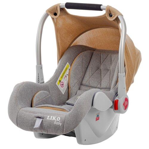 Купить Автокресло-переноска группа 0+ (до 13 кг) Liko Baby CRIB LB-321, серый, Автокресла