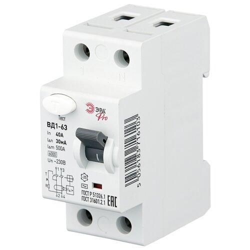 цена на УЗО ЭРА Pro NO-902-25 ВД1-63 30мА 2 полюса 40 А