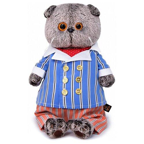 Купить Мягкая игрушка Basik&Co Кот Басик в полосатом костюме 22 см, Мягкие игрушки