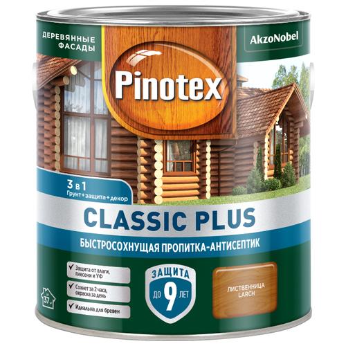 Водозащитная пропитка Pinotex Classic Plus лиственница 2.5 л