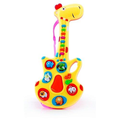 Интерактивная развивающая игрушка Bebelot Гитара-жирафик (BBA0906-002) желтый