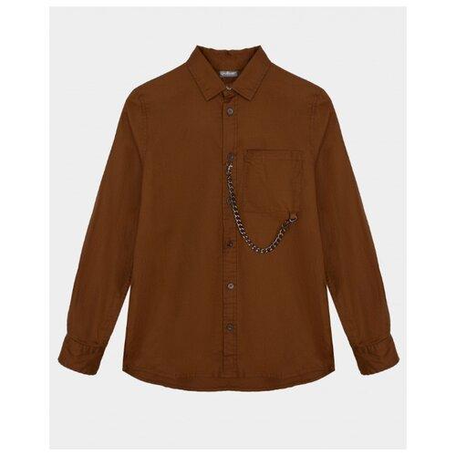 Купить Рубашка Gulliver размер 146, бежевый, Рубашки
