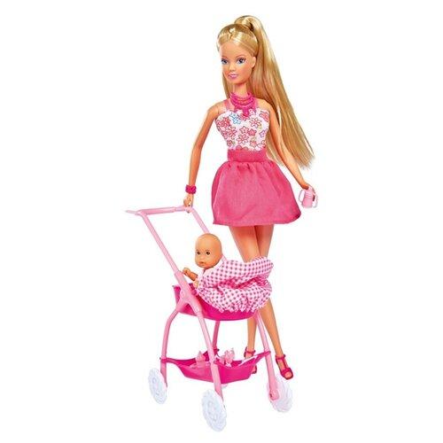 Фото - Набор кукол Steffi Love Штеффи с ребенком (розовый), 29 см, 5733067-2 набор кукол steffi love штеффи с новорожденным 29 см 5730861