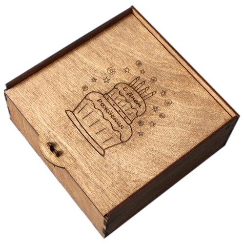 Коробка подарочная ArtandWood С Днем Рождения тик