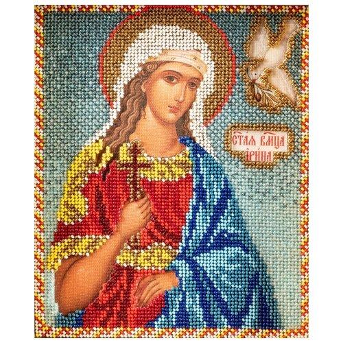Купить Радуга бисера Набор для вышивания бисером Святая Ирина 12 x 14.5 см (В-318), Наборы для вышивания