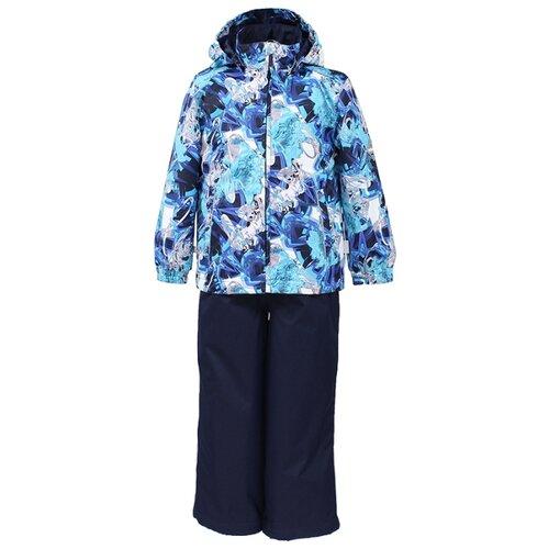 Комплект с брюками Huppa размер 92, 82286 navy pattern/ navy outdoor checked pattern artificial wool fringed shawl scarf