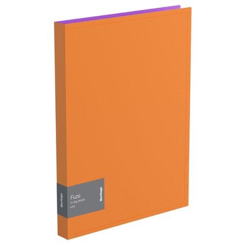 Купить Berlingo Папка на 4-х кольцах Fuze А4, 25 мм, 600 мкм, пластик оранжевый, Файлы и папки