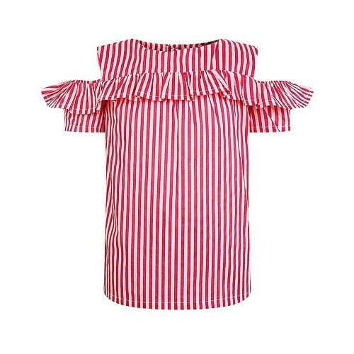 Блуза Mayoral, размер 92, красный/белый платье oodji ultra цвет красный белый 14001071 13 46148 4512s размер xs 42 170