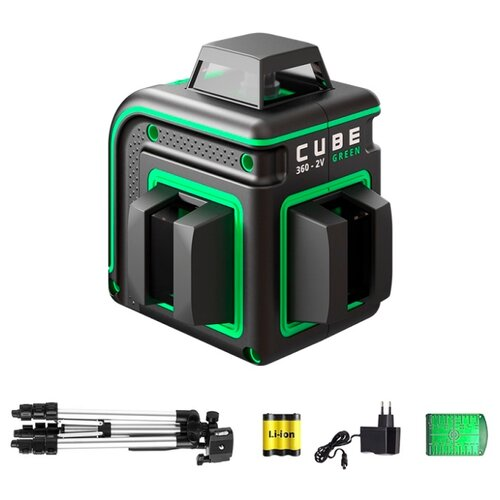 Лазерный уровень ADA instruments CUBE 360-2V GREEN PROFESSIONAL EDITION (А00571) со штативом