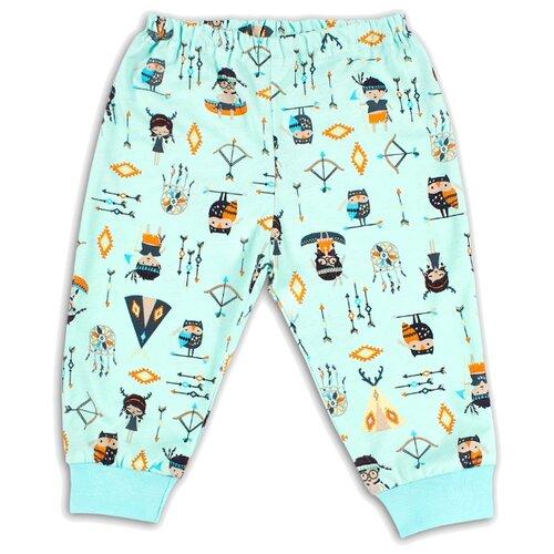 Брюки Веселый Малыш Индеец 33170/one размер 68, ментоловый брюки веселый малыш морской котик 33170 one размер 80 молочный серый синий