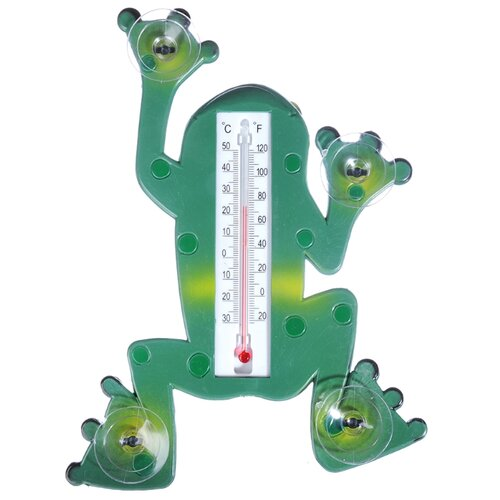 Термометр Inbloom Лягушка зеленый