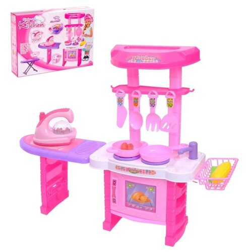 Игровой набор кухня  Помощница для мамы + гладильная доска,утюг 2974939