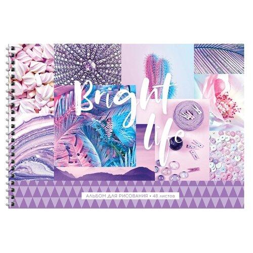 Купить Набор альбомов для рисования ArtSpace Стиль. Bright life 29.7 х 21 см (A4), 100 г/м², 48 л. (4шт.), Альбомы для рисования