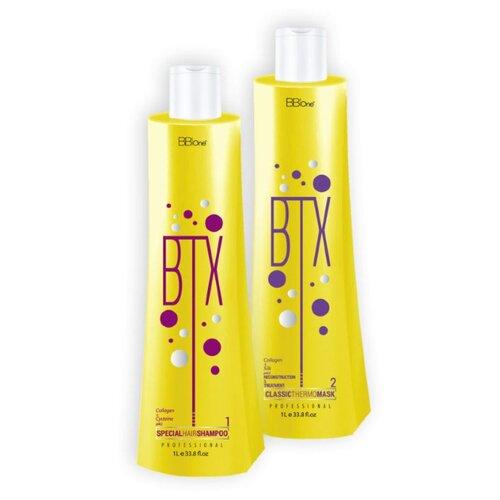 Набор BB One ботокс для волос BTX Classic шаг1 + шаг2 (2х1000 мл) косметический набор для волос bb one ultra liss 360