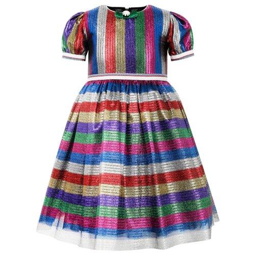 Платье EIRENE размер 170, синий/красный/зеленый платье eirene размер 170 черный желтый красный