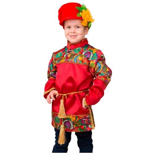 Купить Костюм Батик Jeanees Емеля (2045), красный, размер 140, Карнавальные костюмы