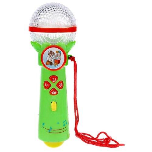 Купить Умка микрофон B1252960-R14-N зеленый, Детские музыкальные инструменты