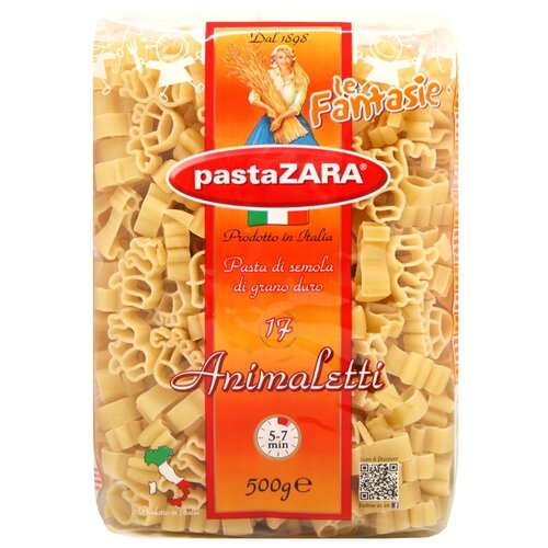 Pasta Zara Макароны le Fantasie 017 Animaletti, 500 г zara larsson zara larsson so good 2 lp
