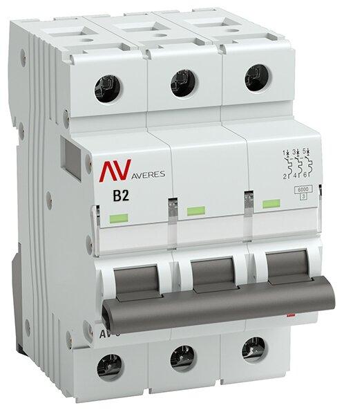 Автоматический выключатель EKF AV-6 3P (B) 6kA
