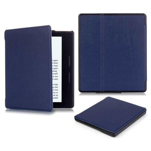 Чехол-обложка футляр MyPads для Amazon Kindle Oasis из качественной эко-кожи тонкий с магнитной застежкой синий
