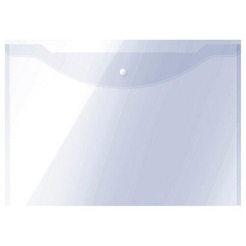 Купить OfficeSpace Папка-конверт на кнопке А3, пластик 150 мкм бесцветный, Файлы и папки