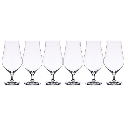 Набор бокалов для пива (6шт) Bohemia Crystal tulipa 674-766 540мл