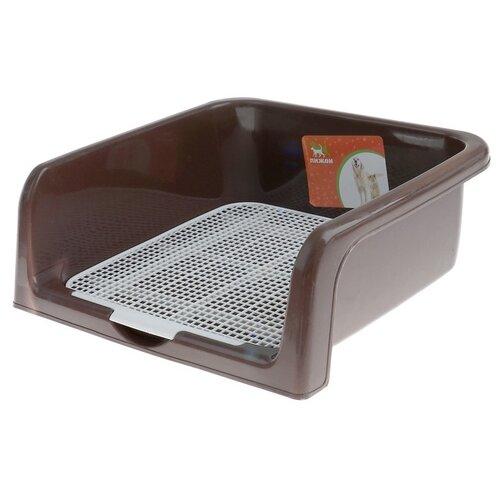 Туалет для собак Пижон 3880600/3880601/3880602/3880603 42х41х16 см коричневый