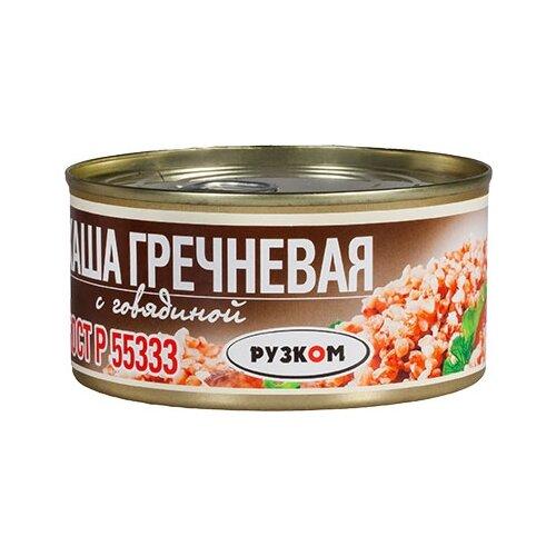 Рузком Каша гречневая с говядиной 325 гБлюда готовые консервированные<br>
