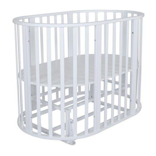 Купить Кроватка Альма-няня Омега 6 в 1 (трансформер), универсальный маятник белый, Кроватки
