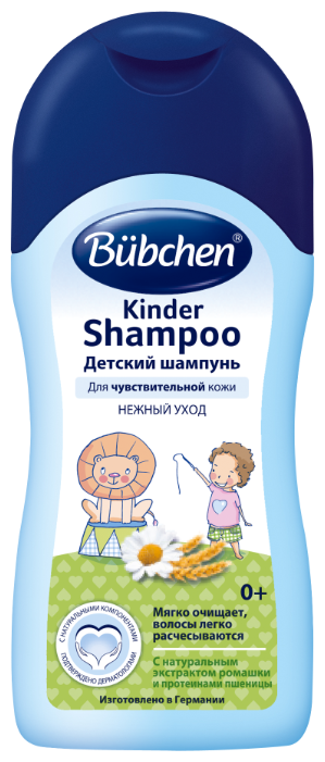 Bubchen Шампунь детский с экстрактом ромашки и протеинами пшеницы