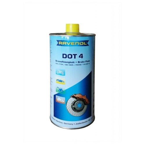 Тормозная жидкость Ravenol DOT 4 1 л тормозная жидкость zalmer dot 4 0 91 л