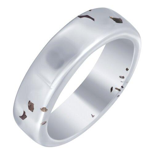 ELEMENT47 Широкое ювелирное кольцо из серебра 925 пробы с кубическим цирконием SR2425_KO_001_WG, размер 18