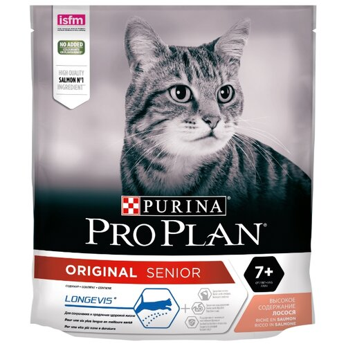 Корм для пожилых кошек Pro Plan Original 7+ с лососем 400 г корм для пожилых кошек pro plan adult 7 с курицей 400 г