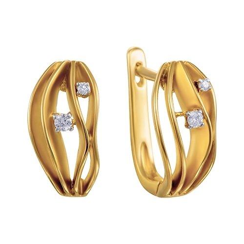 цена на JV Серьги с 4 бриллиантами из жёлтого золота AAS-3814E-SR-YG